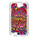 Abstract Shimmering Multicolor Swirly Samsung Galaxy Note 2 Case (White) Front