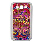Abstract Shimmering Multicolor Swirly Samsung Galaxy Grand DUOS I9082 Case (White) Front