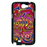 Abstract Shimmering Multicolor Swirly Samsung Galaxy Note 2 Case (Black) Front