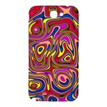 Abstract Shimmering Multicolor Swirly Samsung Note 2 N7100 Hardshell Back Case Front
