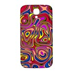 Abstract Shimmering Multicolor Swirly Samsung Galaxy S4 I9500/I9505  Hardshell Back Case Front