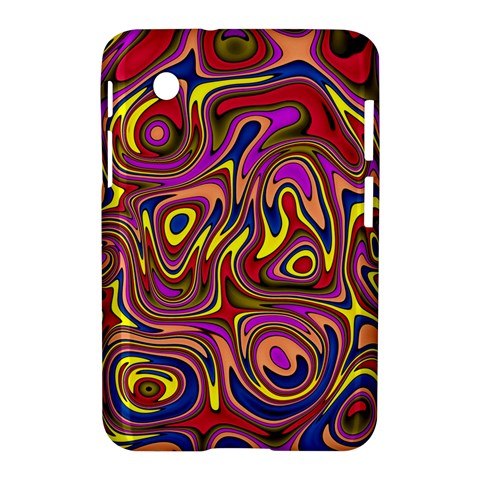 Abstract Shimmering Multicolor Swirly Samsung Galaxy Tab 2 (7 ) P3100 Hardshell Case