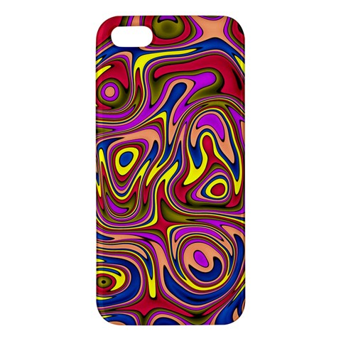 Abstract Shimmering Multicolor Swirly iPhone 5S/ SE Premium Hardshell Case
