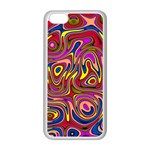 Abstract Shimmering Multicolor Swirly Apple iPhone 5C Seamless Case (White) Front