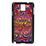 Abstract Shimmering Multicolor Swirly Samsung Galaxy Note 3 N9005 Case (Black) Front