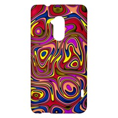 Abstract Shimmering Multicolor Swirly HTC One Max (T6) Hardshell Case