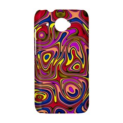 Abstract Shimmering Multicolor Swirly HTC Desire 601 Hardshell Case