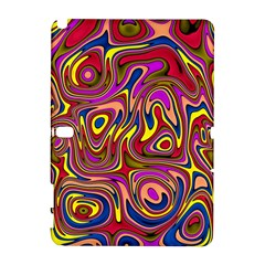 Abstract Shimmering Multicolor Swirly Samsung Galaxy Note 10.1 (P600) Hardshell Case
