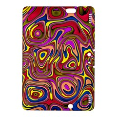 Abstract Shimmering Multicolor Swirly Kindle Fire HDX 8.9  Hardshell Case