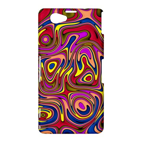 Abstract Shimmering Multicolor Swirly Sony Xperia Z1 Compact