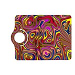 Abstract Shimmering Multicolor Swirly Kindle Fire HD (2013) Flip 360 Case Front