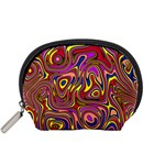 Abstract Shimmering Multicolor Swirly Accessory Pouches (Small)  Front