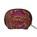 Abstract Shimmering Multicolor Swirly Accessory Pouches (Small)  Back