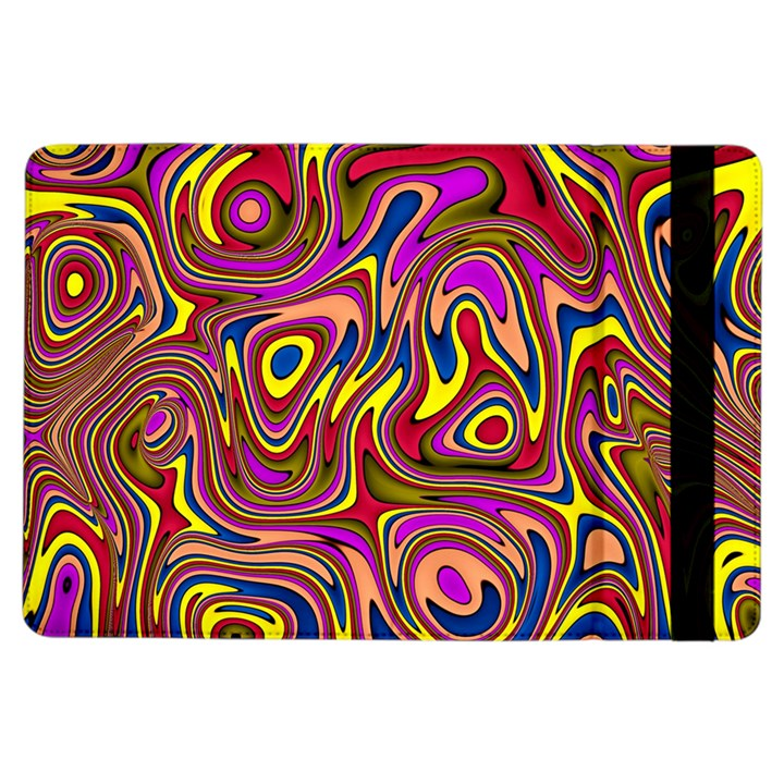 Abstract Shimmering Multicolor Swirly iPad Air Flip