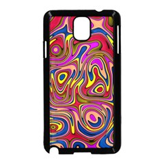 Abstract Shimmering Multicolor Swirly Samsung Galaxy Note 3 Neo Hardshell Case (Black)