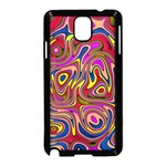 Abstract Shimmering Multicolor Swirly Samsung Galaxy Note 3 Neo Hardshell Case (Black) Front