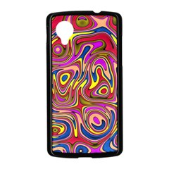 Abstract Shimmering Multicolor Swirly Nexus 5 Case (Black)