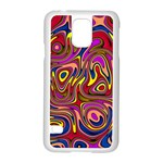 Abstract Shimmering Multicolor Swirly Samsung Galaxy S5 Case (White) Front