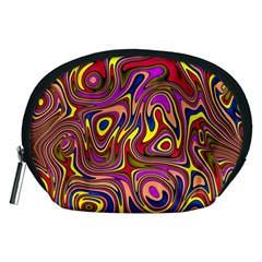 Abstract Shimmering Multicolor Swirly Accessory Pouches (Medium)