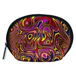 Abstract Shimmering Multicolor Swirly Accessory Pouches (Medium)  Front