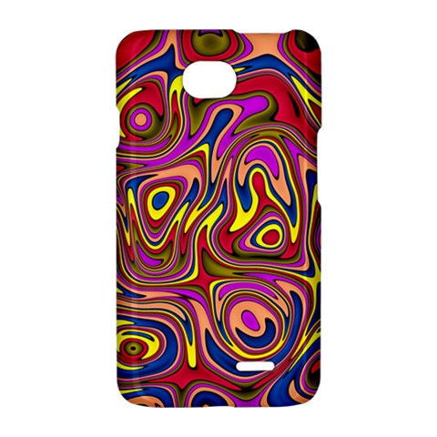 Abstract Shimmering Multicolor Swirly LG Optimus L70