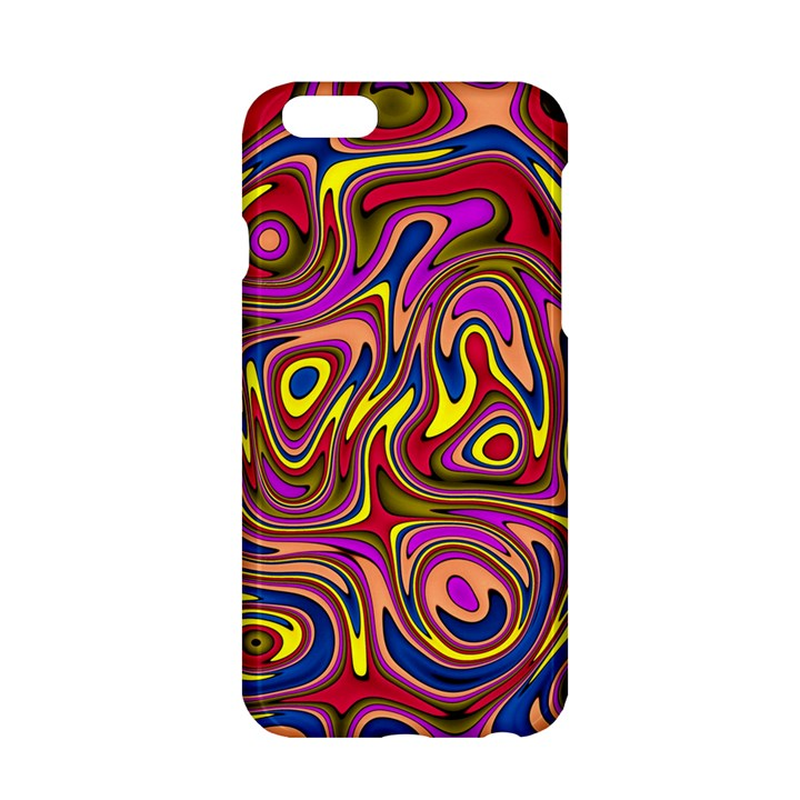 Abstract Shimmering Multicolor Swirly Apple iPhone 6/6S Hardshell Case