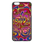 Abstract Shimmering Multicolor Swirly Apple iPhone 6 Plus/6S Plus Black Enamel Case Front