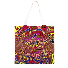 Abstract Shimmering Multicolor Swirly Grocery Light Tote Bag