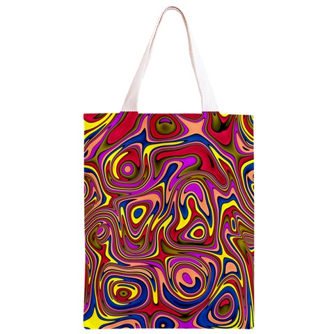 Abstract Shimmering Multicolor Swirly Classic Light Tote Bag