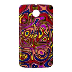 Abstract Shimmering Multicolor Swirly Nexus 6 Case (White)