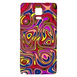 Abstract Shimmering Multicolor Swirly Galaxy Note 4 Back Case Front