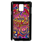 Abstract Shimmering Multicolor Swirly Samsung Galaxy Note 4 Case (Black) Front