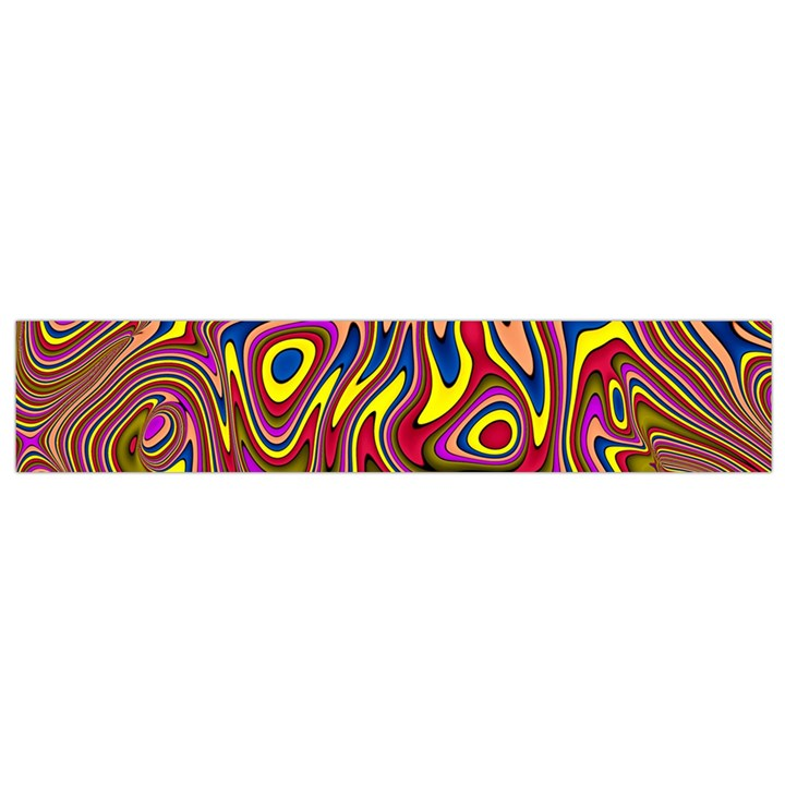 Abstract Shimmering Multicolor Swirly Flano Scarf (Small)