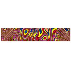 Abstract Shimmering Multicolor Swirly Flano Scarf (Large)