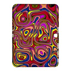Abstract Shimmering Multicolor Swirly Samsung Galaxy Tab 4 (10 1 ) Hardshell Case