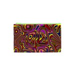 Abstract Shimmering Multicolor Swirly Cosmetic Bag (XS) Front