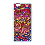 Abstract Shimmering Multicolor Swirly Apple Seamless iPhone 6/6S Case (Color) Front