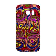 Abstract Shimmering Multicolor Swirly Galaxy S6 Edge