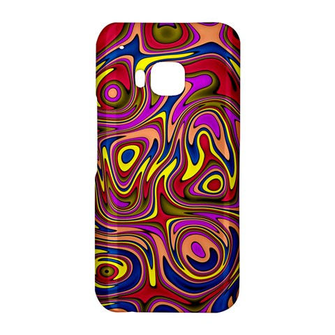 Abstract Shimmering Multicolor Swirly HTC One M9 Hardshell Case