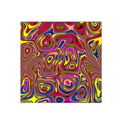 Abstract Shimmering Multicolor Swirly Satin Bandana Scarf