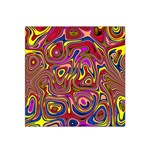 Abstract Shimmering Multicolor Swirly Satin Bandana Scarf Front