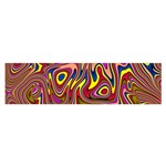 Abstract Shimmering Multicolor Swirly Satin Scarf (Oblong) Front