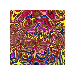 Abstract Shimmering Multicolor Swirly Small Satin Scarf (square)