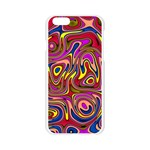 Abstract Shimmering Multicolor Swirly Apple Seamless iPhone 6/6S Case (Transparent) Front