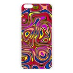 Abstract Shimmering Multicolor Swirly Apple Seamless iPhone 6 Plus/6S Plus Case (Transparent) Front