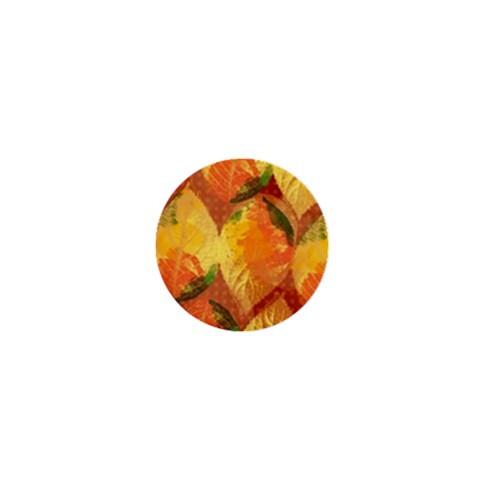 Fall Colors Leaves Pattern 1  Mini Buttons