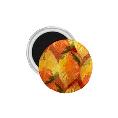 Fall Colors Leaves Pattern 1.75  Magnets