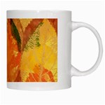 Fall Colors Leaves Pattern White Mugs Right