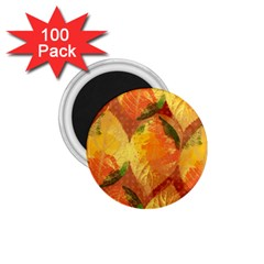 Fall Colors Leaves Pattern 1 75  Magnets (100 Pack)