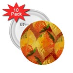 Fall Colors Leaves Pattern 2.25  Buttons (10 pack)  Front